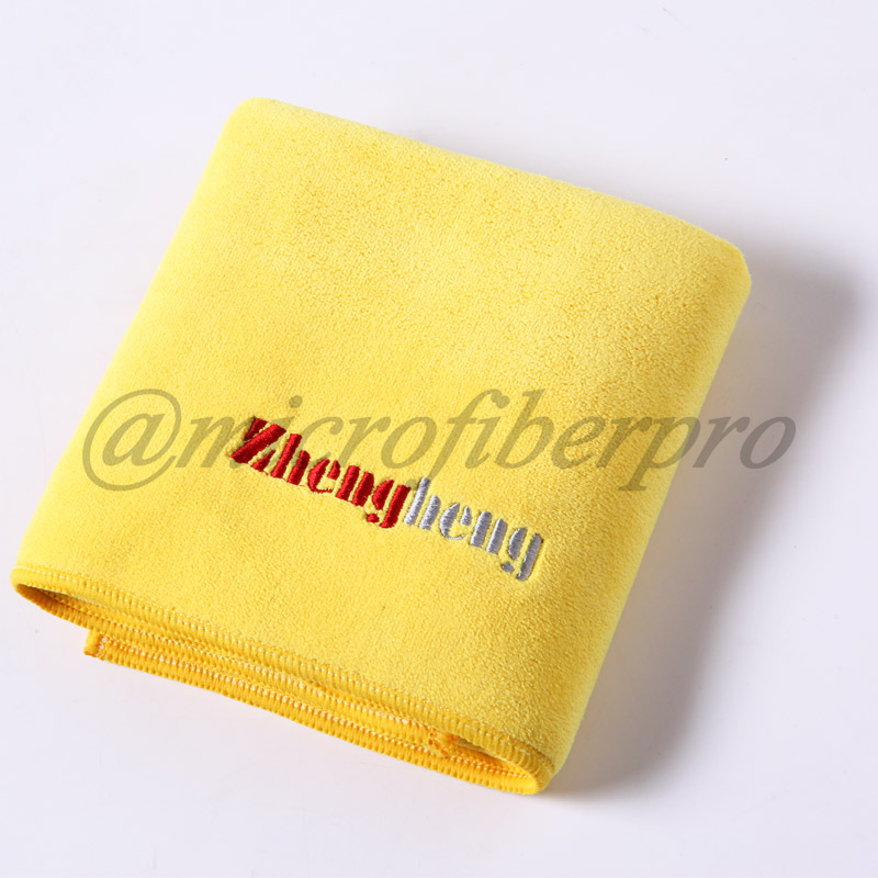 Weft with Hair Knitting Microfiber Towel